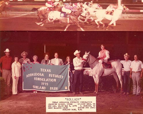 Rollady winning Appaloosa Futurity